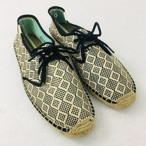 Soludos Size 10 M Woven Lace Up Espadrille Shoes